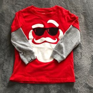 Boys Santa Long Sleeved T-Shirt